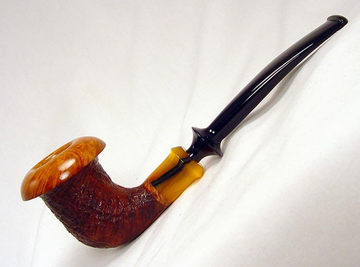 Ron D Powell Blasted 1/4 bent Calabash