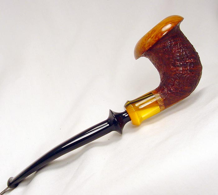 Ron Powell Blasted 1/4 bent Calabash