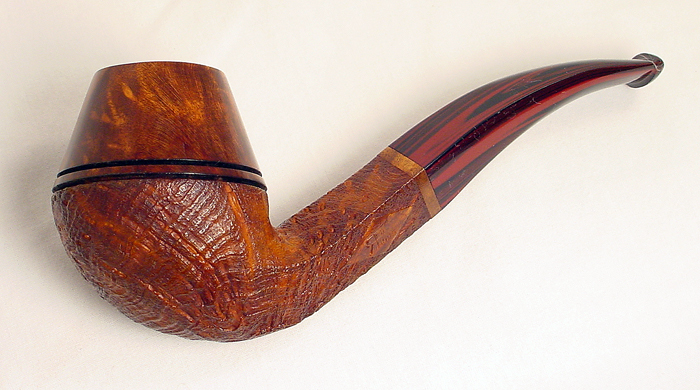 Ron D Powell Partially Blasted Bent Bulldog